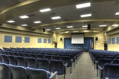 HDR of Auditorium. At Middle School in Florida Royalty Free Stock Photo
