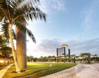 HDR av parken i Miami Beach Arkivbild