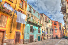 Hdr backstreet in Bosa Royalty Free Stock Photos