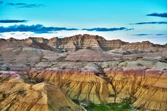 HDR Badlands Formations Stock Photography