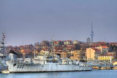 HDR Battleship Royalty Free Stock Image