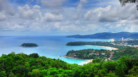 HDR of bays and island in PHuket. HDR photo of Kata, Kata Noi and Karon Bays in Phuket, Thailand Stock Photos