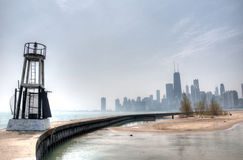 HDR of Beach in Chicago Royalty Free Stock Photos