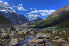 HDR Beautiful Mountain Lake Royalty Free Stock Photography