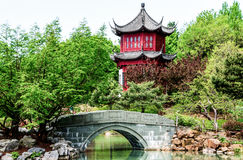 HDR-beeld Chinese tempel Stock Afbeelding