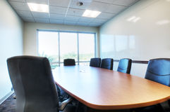 HDR of Boardroom. With Table and Chairs Royalty Free Stock Photos