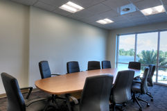 HDR of Boardroom. With Table and Chairs Royalty Free Stock Images