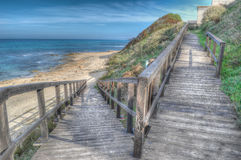 Hdr boardwalk Royalty Free Stock Photos