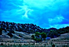 HDR Box Elder Canyon WMA Royalty Free Stock Image
