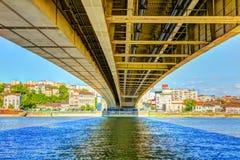 ΕΙΚΌΝΑ HDR κάτω από τη γέφυρα Branko s Στοκ φωτογραφία με δικαίωμα ελεύθερης χρήσης