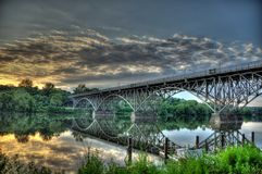 HDR - Bridge, Kelly Drive, Philly Royalty Free Stock Photos