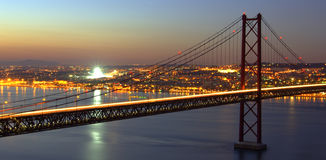 Free HDR - Bridge Over Tagus Royalty Free Stock Photos - 3638358