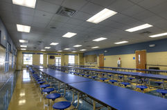 HDR of Cafeteria. A Middle School in Florida Stock Images