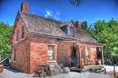 HDR Cape of Florida Lighthouse Keepers House Royalty Free Stock Photos