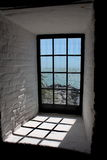 HDR Cape of Florida Lighthouse Window Stock Image