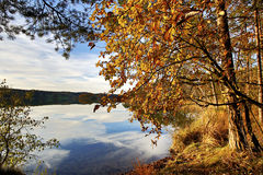 HDR capture of a lake in Bavaria in autumn Stock Photography