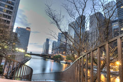 HDR of Chicago Royalty Free Stock Photos
