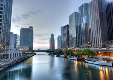 HDR of Chicago Stock Image