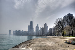 HDR of Chicago Stock Photo