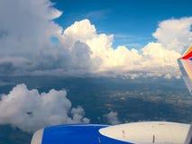 HDR chmury jak przeglądać od samolotu 1 zdjęcie royalty free