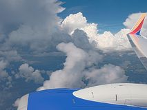 HDR chmury jak przeglądać od samolotu fotografia stock