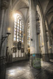 HDR Church roof. St. john's cathedral hertogenbosch - Church ceilling stock image