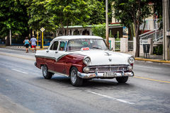 HDR classic car taxi drived in Havana Cuba Stock Photo