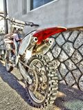 HDR, cross, Honda, motorcycle, sport, mountain bike, 250ccm, extreme sports stock photo