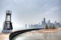HDR da praia em Chicago Fotos de Stock Royalty Free