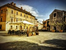 Hdr de l'Italie chez l'Ombrie photo libre de droits