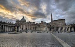 Hdr de la puesta del sol de Vatican imagenes de archivo