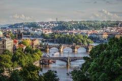 HDR-de stad van Fotopraag, Tsjechische republiek Stock Foto