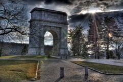 HDR - De vallei smeedt Monument Royalty-vrije Stock Foto