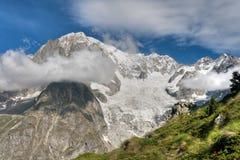 Hdr del Monte Bianco - di Mont Blanc Fotografie Stock Libere da Diritti