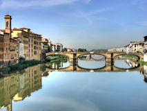 Hdr del puente de Michelangelo Imagen de archivo