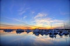 Hdr del puerto deportivo fotos de archivo libres de regalías