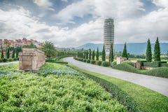HDR, der lehnende Turm von Pisa, der Turm von Pisa, Thailand Lizenzfreie Stockfotos