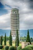 HDR, der lehnende Turm von Pisa, der Turm von Pisa, Thailand Lizenzfreies Stockfoto