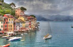 Hdr di Genova Portofino Fotografie Stock Libere da Diritti