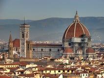Hdr di panorama della Santa Maria del Fiore fotografia stock
