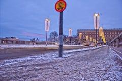 HDR di una via a Stoccolma Fotografie Stock Libere da Diritti