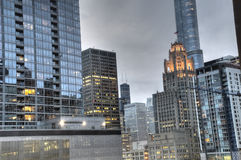 HDR of Downtown Chicago Royalty Free Stock Photos