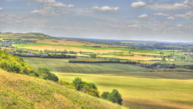 HDR of Dunstable Downs Royalty Free Stock Photos