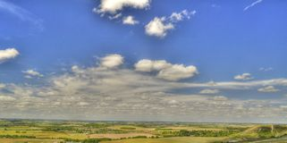 HDR of Dunstable Downs Stock Photography