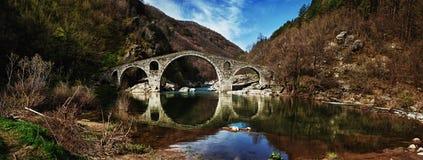 HDR e foto panoramica del ponte del diavolo fotografie stock