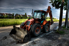 HDR excavator Royalty Free Stock Images