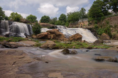 HDR Falls Park on The Reedy River Stock Image