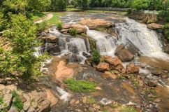 HDR Falls Park on The Reedy River Royalty Free Stock Images