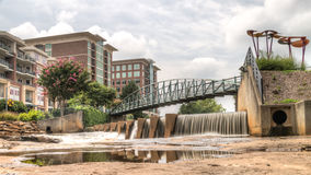 HDR Falls Park on The Reedy River Stock Photography