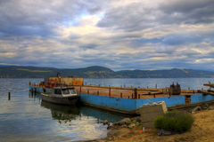 HDR Fishing Boat Docked Royalty Free Stock Photo